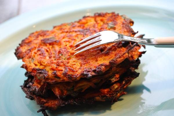 Baked Sweet Potato Latkes Recipe