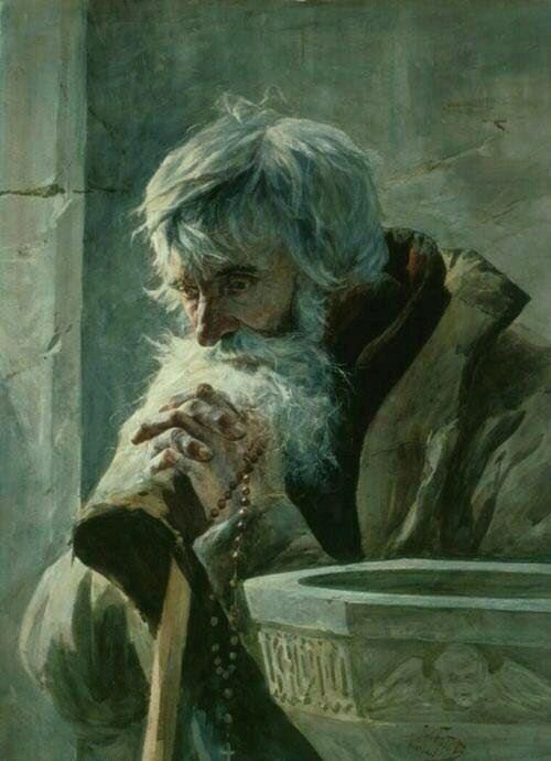 Praying Old Man, Julian Fałat.