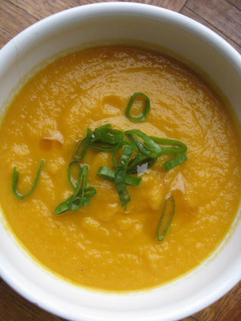 Carrot Soup with Miso, Ginger, and Sesame Oil