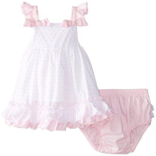 Nannette Baby-Girls Newborn 2 Piece Dress Set, Optic White, 0-3 Months: pinterest.com/pin/256142297531539839