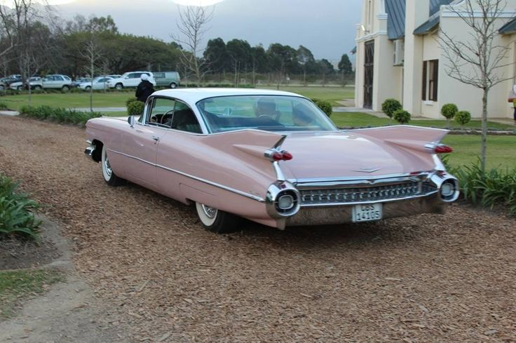 Our wedding car -American  pink cadillac