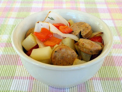 ... Potatoes, Chicken Sausage and Peppers - incredibly flavorful one-pot