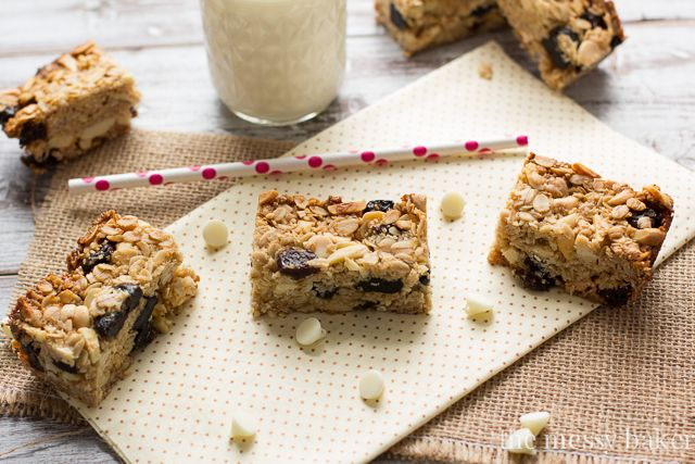 Cherry Almond Granola Bars - The Messy Baker Blog