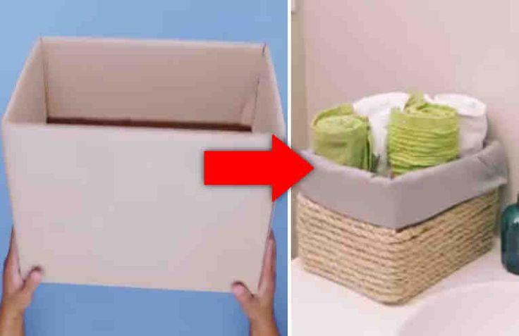 Как обшить картонную коробку тканью своими руками под игрушки 39