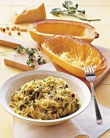 Roasted spaghetti squash with herbs | On the Side | Pinterest