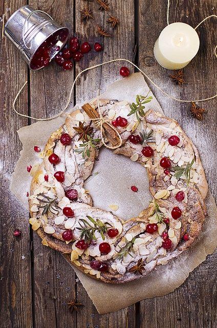 Christmas Wreath Mini Breads Recipe — Dishmaps