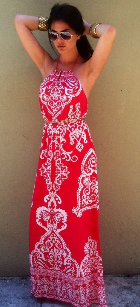Gorgeous white print maxi dress