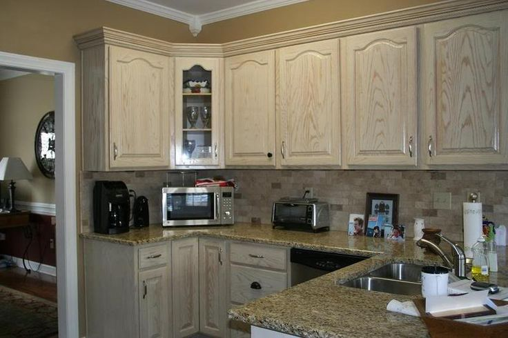 22 fabulous photo of whitewash oak cabinets concept home for White pickled kitchen cabinets