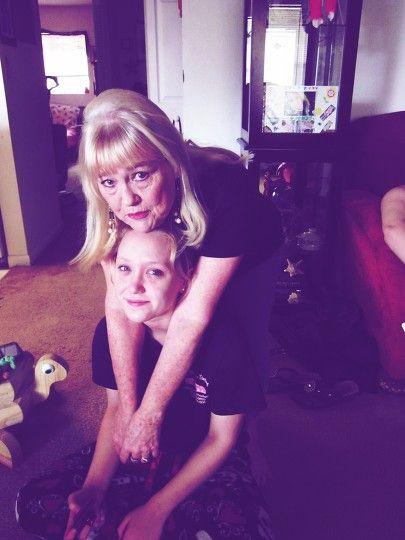 Laurali Star Blonde Grandmother and Grandaughter Embrace
