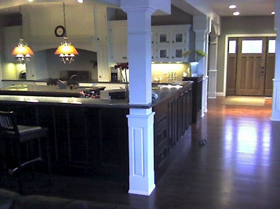 Square Paneled Interior Column Project G Vose Ave