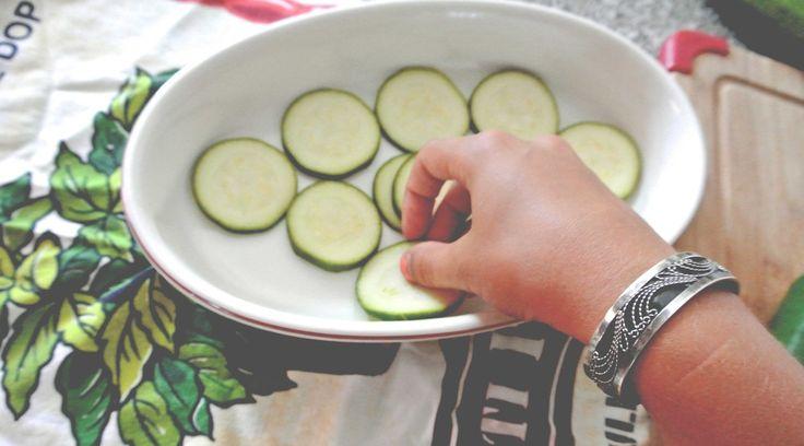 Zucchini Tomato Parmesan Frittata w/ Spicy Salsa Dip (recipe)