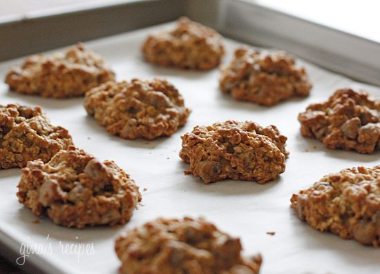 Low Fat Chewy Chocolate Chip Oatmeal Cookies | Recipe