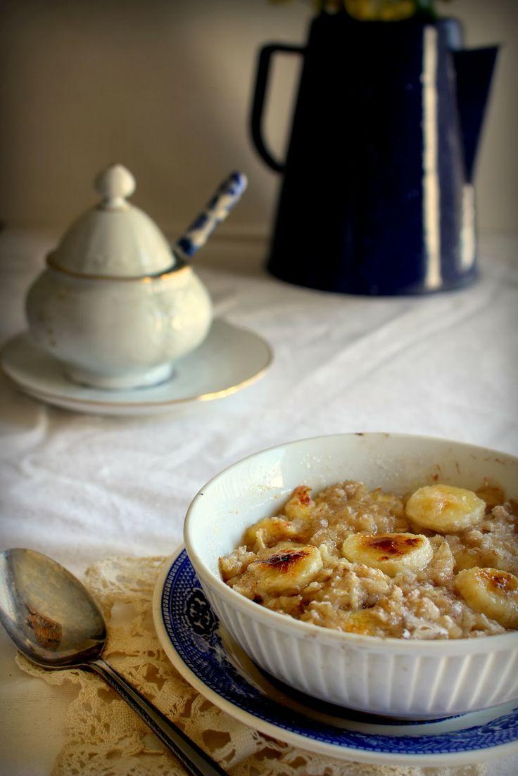 Oatgasm: Banana Creme Brulee Oatmeal | eat | Pinterest