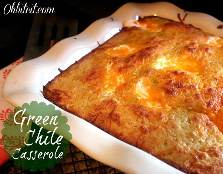 Green Chile Cornbread Casserole! | Casseroles | Pinterest