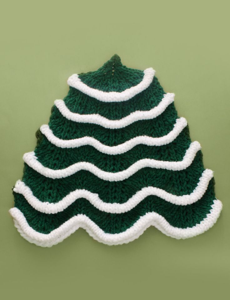 Christmas Tree Dishcloth - free Best hand knitted dish cloths. Tons?