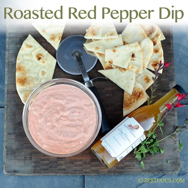 Roasted Red Pepper Dip from Zestuous #SaucyMama #Tailgate # ...