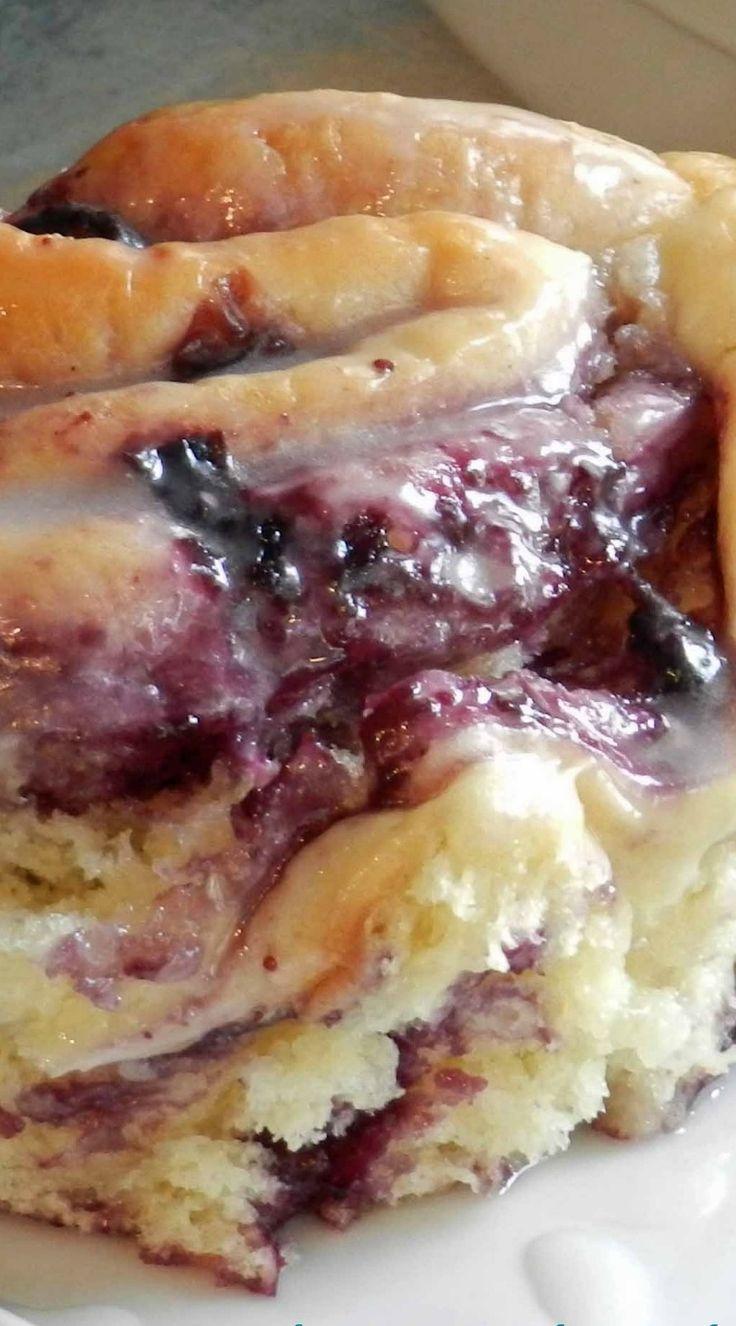 Blueberry Sweet Rolls with Lemon Glaze | Recipe