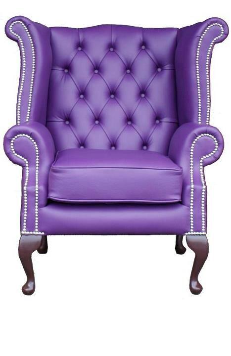 Purple wing chair Purple