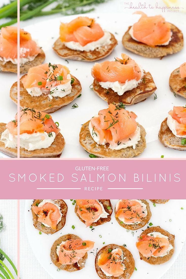 Watch Smoked salmon blinis with horseradish cream and a zesty salad video