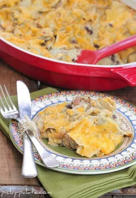 Green Chili Enchilada Bake | RECIPES | Pinterest