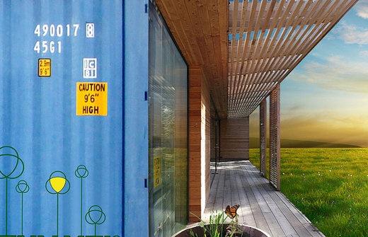 Wohnen im ökologischen Container deluxe