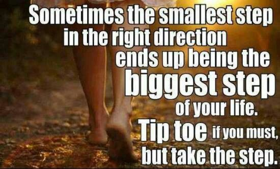 Small steps make big changes