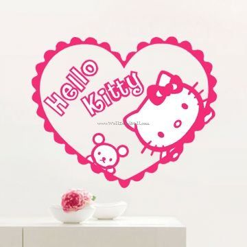 Hello Kitty Wall Decals  Kids Room Decals  Pinterest