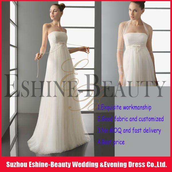 Plain crystal beaded corset sheath tulle wedding dresses wholesale