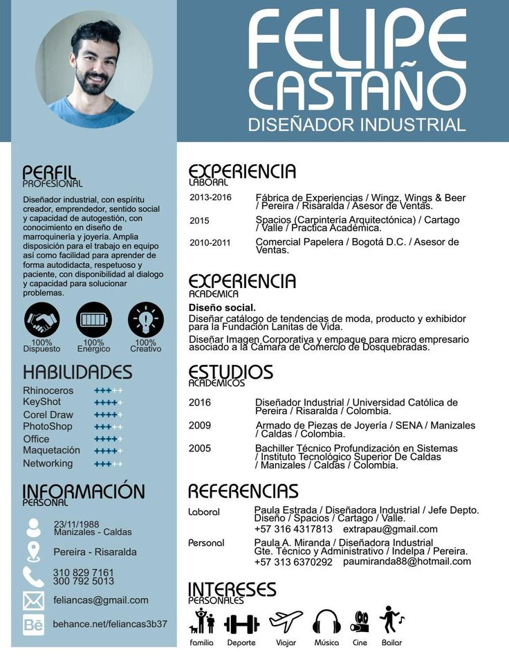 Curriculum Vitae Modelo 3b Azul Weeksseal Ml