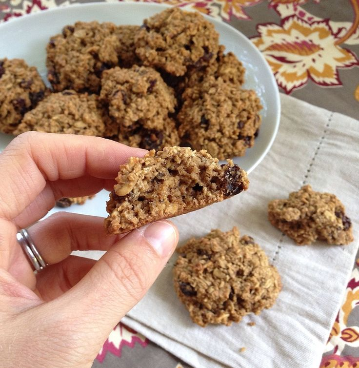 Oatmeal Raisin Cookies (vegan, gluten-free) Note: These are DELICIOUS ...