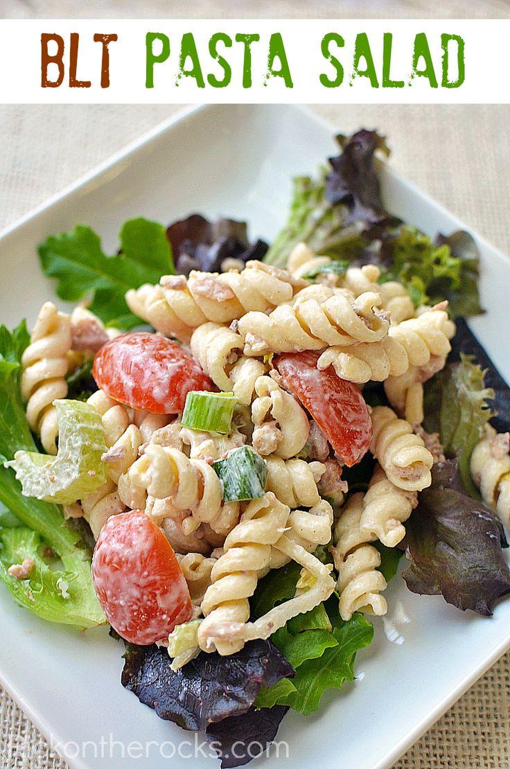blt pasta salad recipe | Foodie | Pinterest