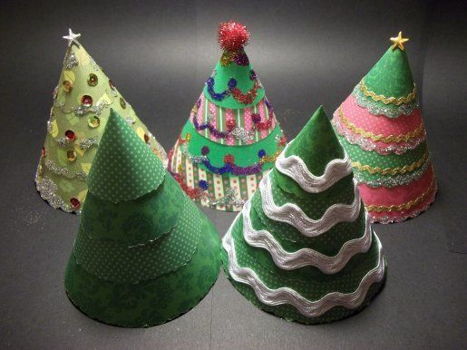 Make and do co uk paper and card projects cone christmas tree cone