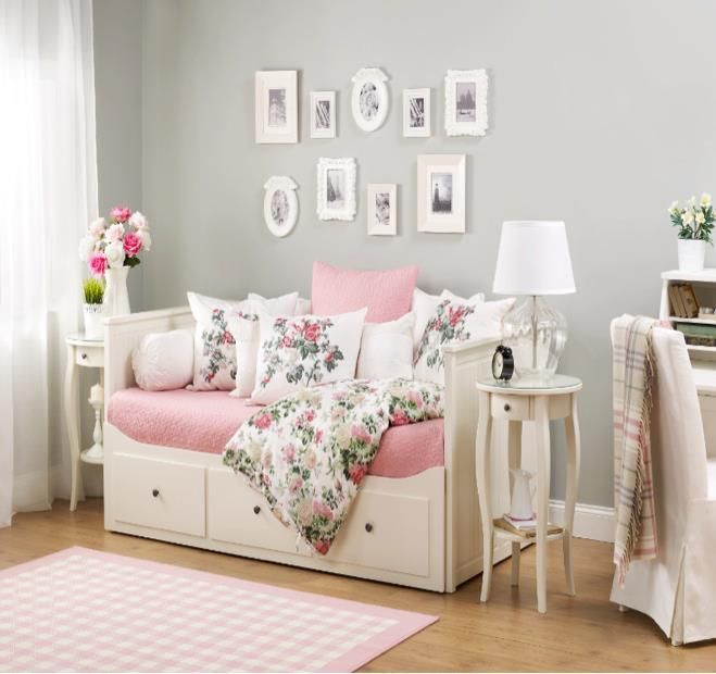 ikea hemnes daybed annika 39 s room pinterest. Black Bedroom Furniture Sets. Home Design Ideas