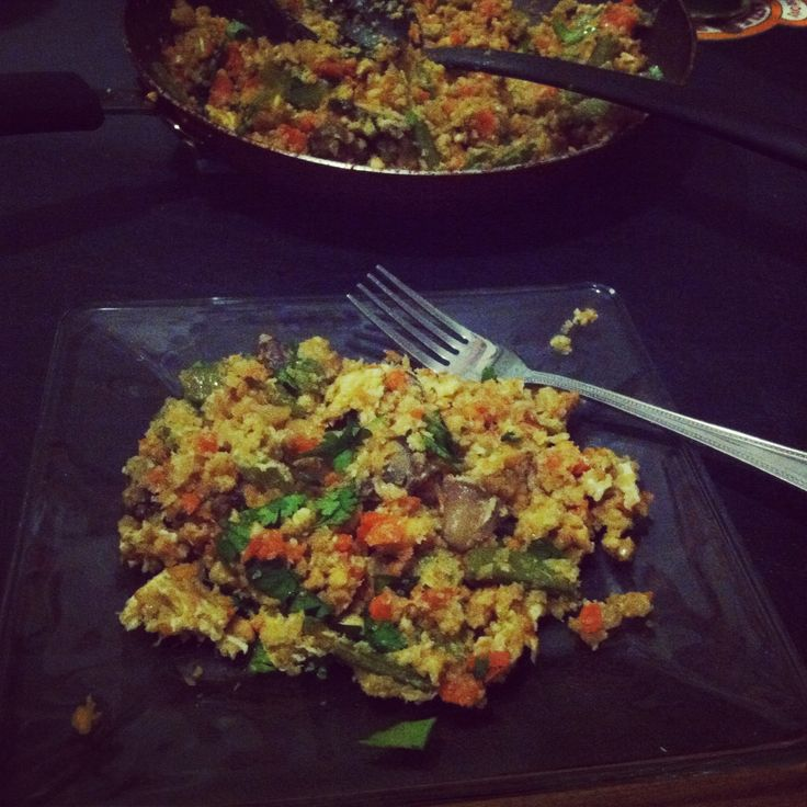 Brussels Sprout Fried Rice With Crispy Cauliflower Recipe ...