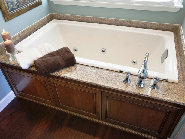 Bathroom Tub Deck Ideas : Run my renovation a master bathroom that you helped design