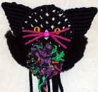 Macrame Halloween Cat by Christine Conlon
