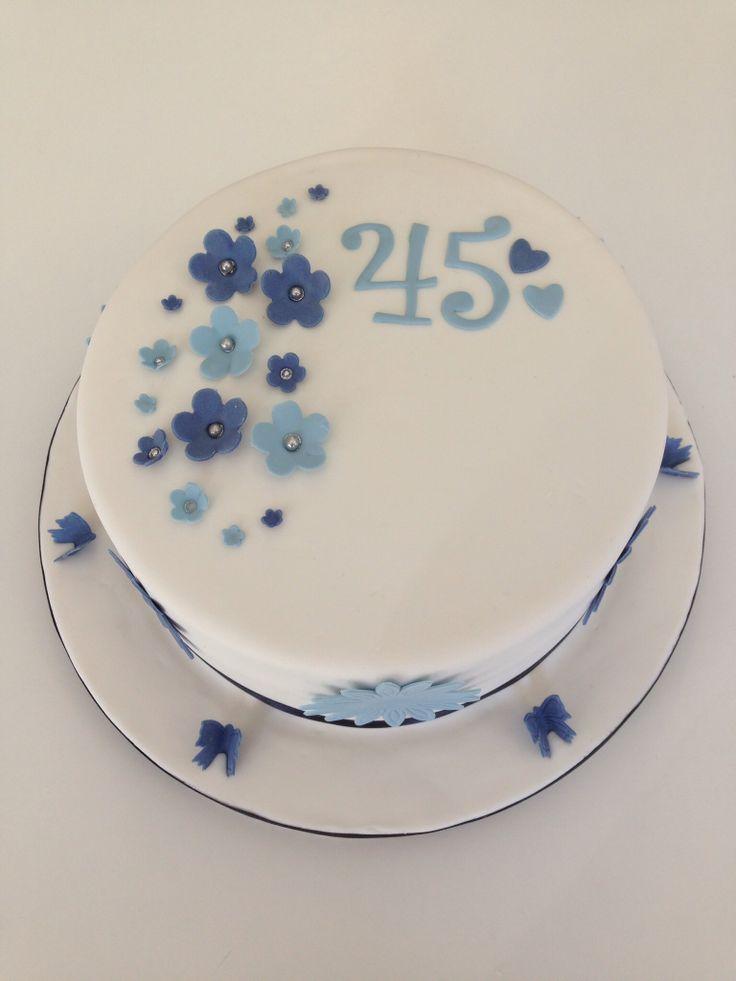 8th Wedding Anniversary Cake 45th Wedding Anniversary Cake