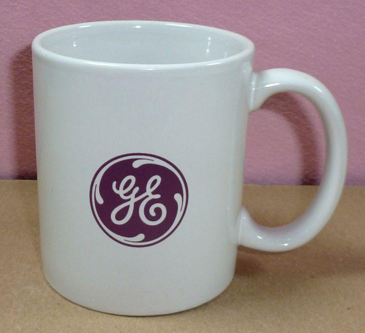 Purple Ge General Electric Light Bulb Logo Large Ceramic