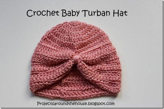 Free Crochet Pattern Baby Turban : crochet baby turban hat Crochet Pinterest