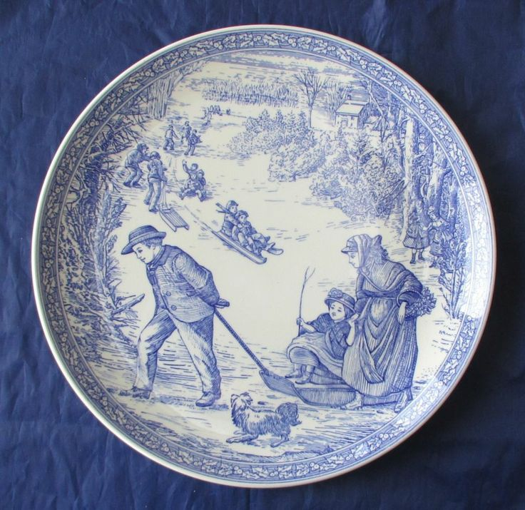 Spode Blue Room Collection Christmas Plates