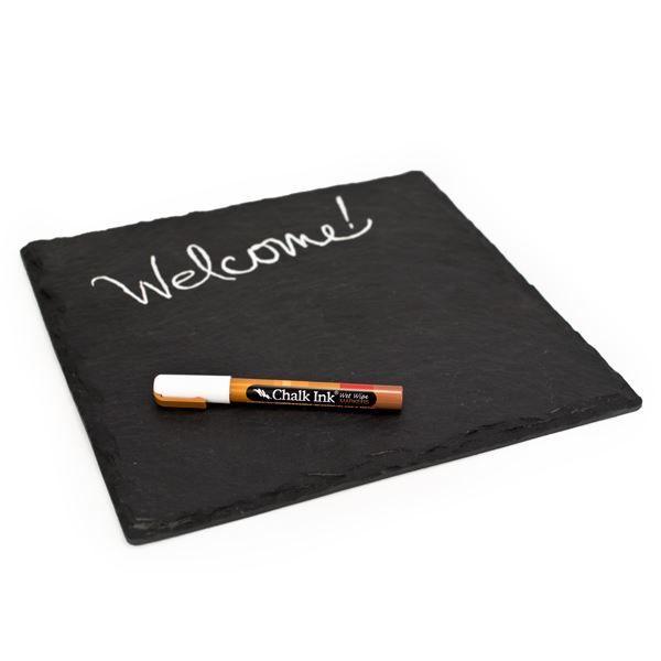 Slate Serving Board with Chalk Pen (491563129), Bamboo Dinnerware & Utensils | Eco Friendly Dinnerware & Cutlery