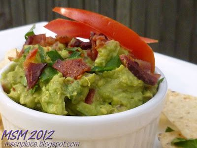 Bacon & Tomato Guacamole | More food | Pinterest