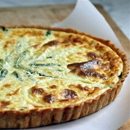Lemon Ricotta Tart with Asparagus | Food Stuff | Pinterest