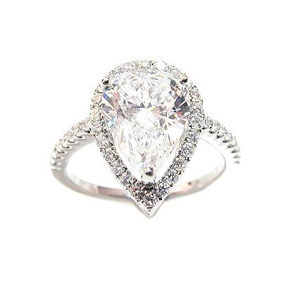 i this teardrop engagement ring walking the