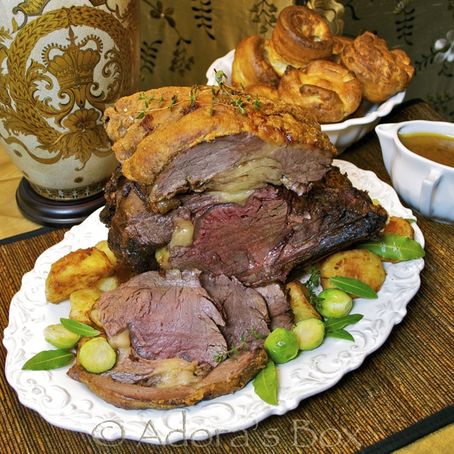 Prime rib and Yorkshire puddings | Recipes & Foods | Pinterest