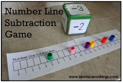 Number line subtraction game