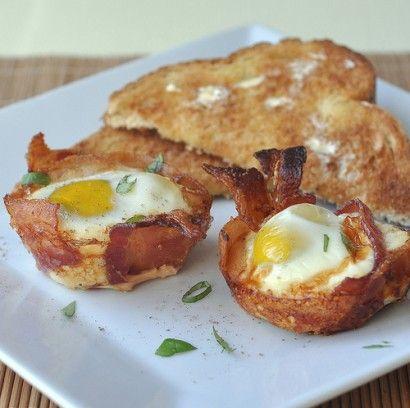 Eggs Nestled in Bacon | Recipe