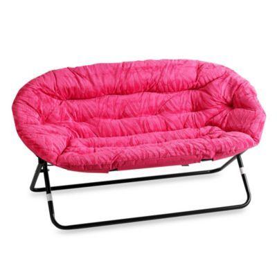 Idea nova double saucer chair in pink zebra bedbathandbeyond com