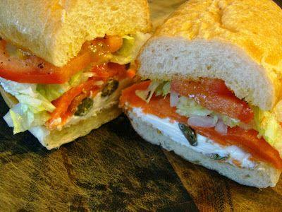 Smoked Salmon and Cream Cheese Sandwich | yummy stuff!! | Pinterest