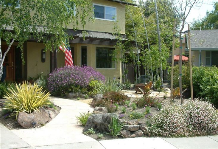 Xeriscaping Backyard Landscaping Ideas : Front Yard Xeriscaping Pictures  Small Yard Landscaping Ideas